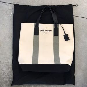 Yves Saint Laurent canvas tote bag
